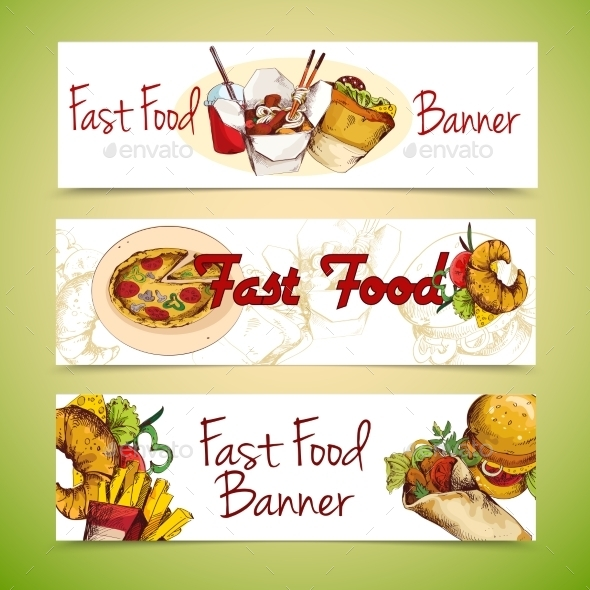 GraphicRiver Fast Food Banners 9562531