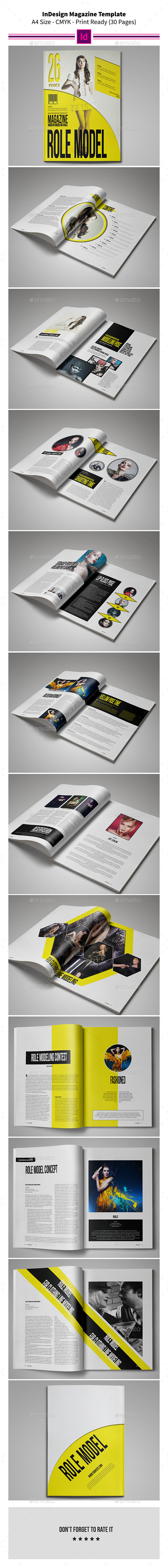 GraphicRiver InDesign Magazine Template 26 Pages 9562582