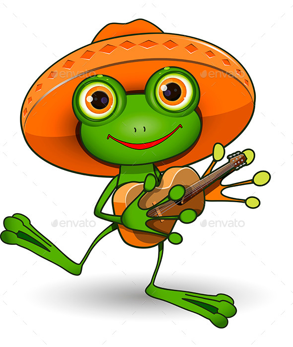 GraphicRiver Frog with Guitar 9562670