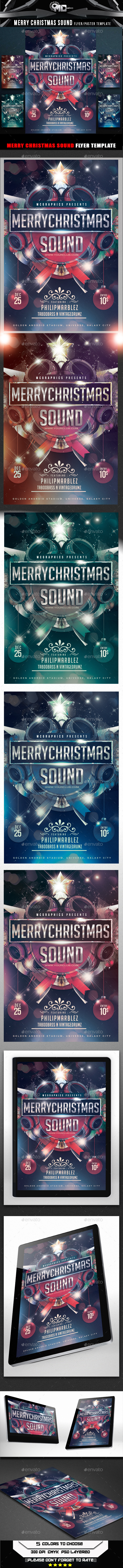 GraphicRiver Merry Christmas Sound Flyer Template 9562705