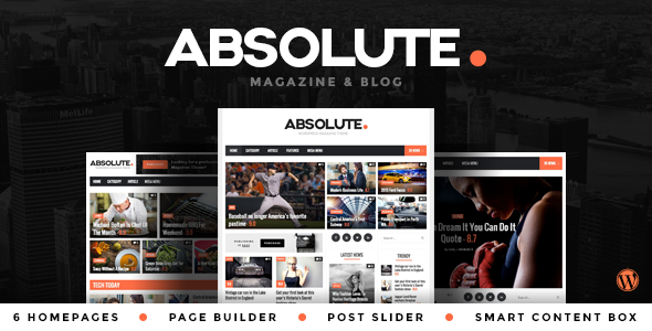 ThemeForest Absolute The News Blog and Magazine Theme 9562723