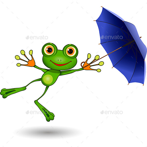 GraphicRiver Frog with Umbrella 9562832
