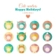 Vector Set of Holiday Carnival Avatars - GraphicRiver Item for Sale