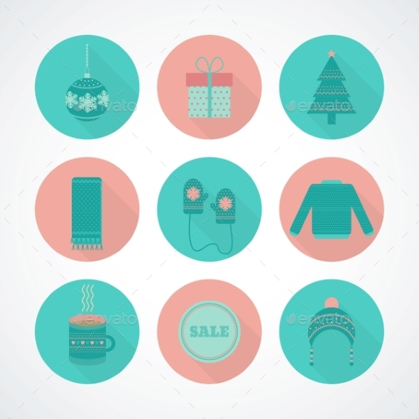 GraphicRiver Vector Set of Holiday Christmas 9562848