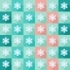 Seamless Pattern with Flat Snowflakes - GraphicRiver Item for Sale