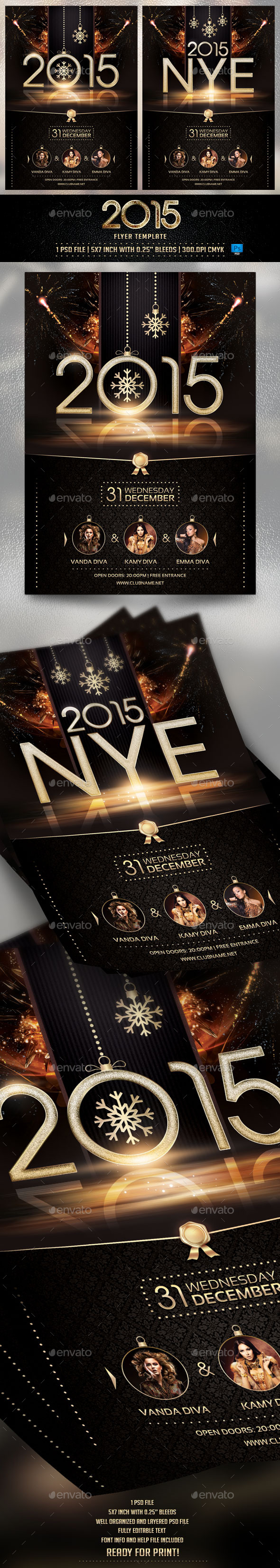 GraphicRiver 2015 NYE Flyer Template 9562859