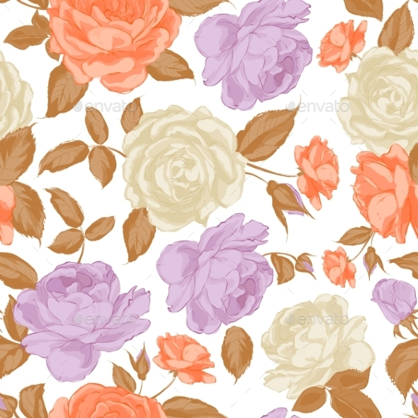 GraphicRiver Seamless Floral Pattern 9562870