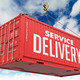 Service Delivery - Red Hanging Cargo Container. - PhotoDune Item for Sale