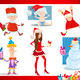 santa claus and christmas cartoon set - PhotoDune Item for Sale