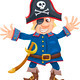 funny pirate cartoon illustration - PhotoDune Item for Sale