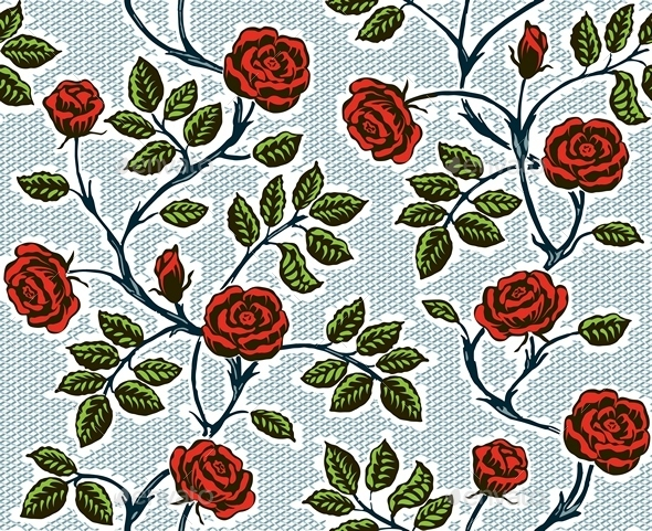 GraphicRiver Vintage Floral Seamless Pattern 9563186