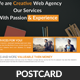 Creative Web Agency Postcard Template - GraphicRiver Item for Sale
