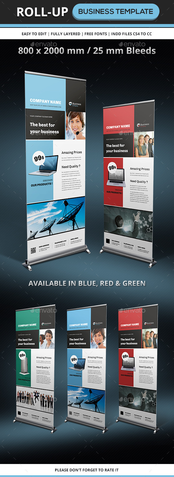 GraphicRiver Corporate & Business Rollup Template 9563398