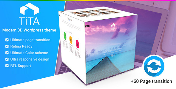 ThemeForest Tita 3D Modern & Unique HTML5 Theme 9563412