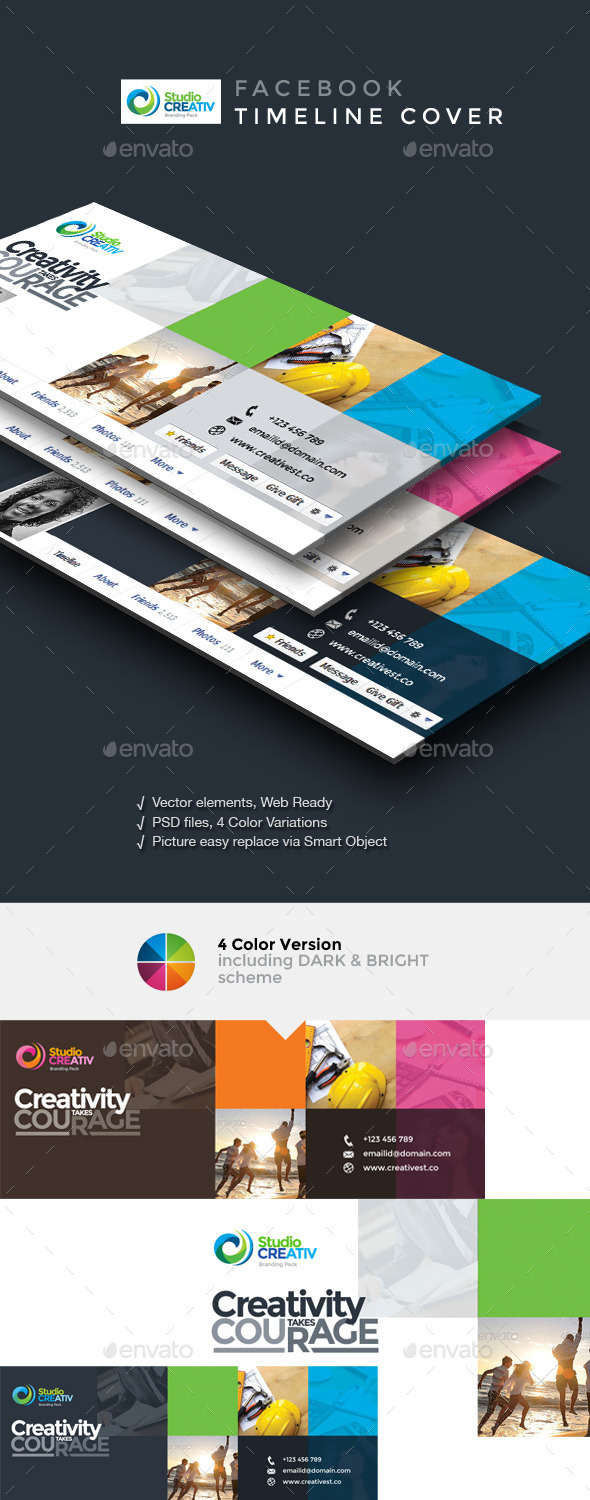 GraphicRiver Creative Facebook Timeline Cover 9563535
