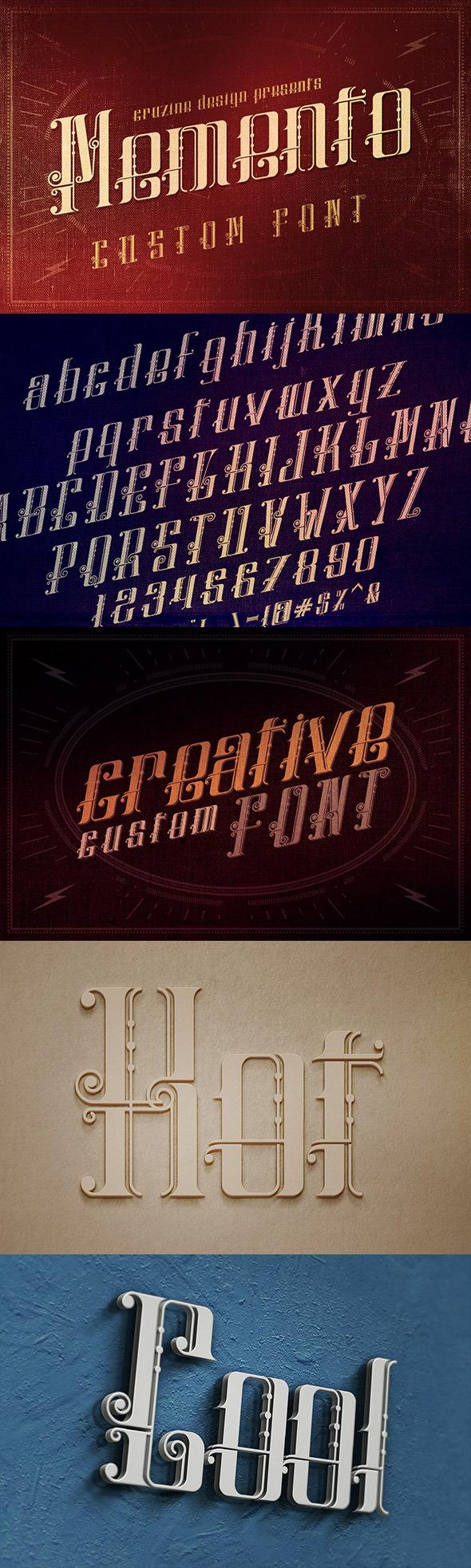 GraphicRiver Memento Custom Font 9563691