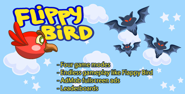 CodeCanyon Flippy Bird Android Game 9563754