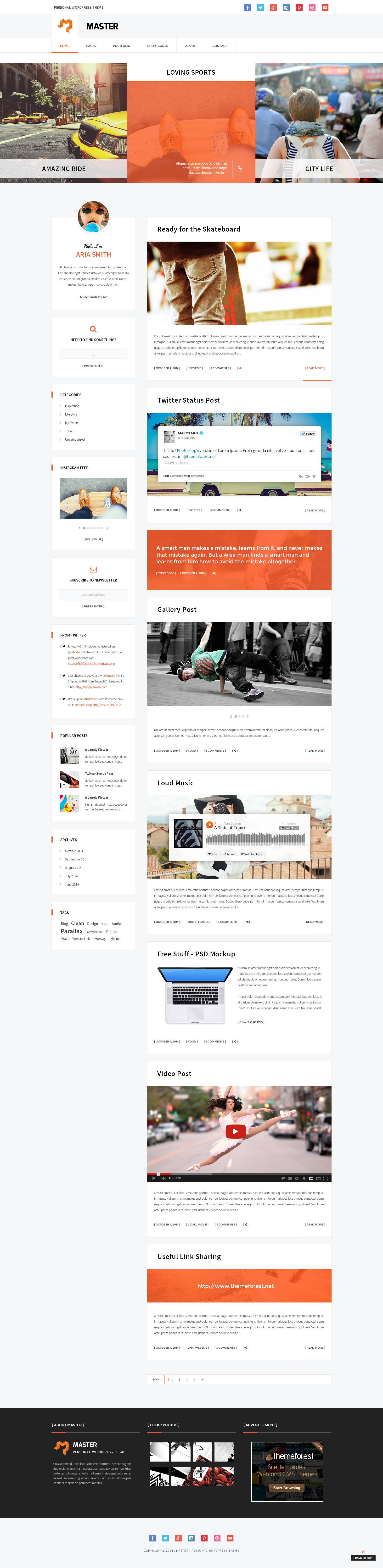 Master - Personal Blog Theme - 1
