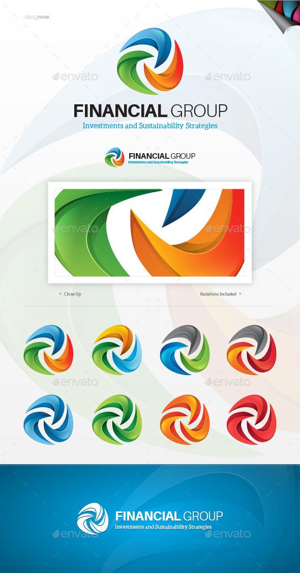 GraphicRiver Financial Group Logo 9563870