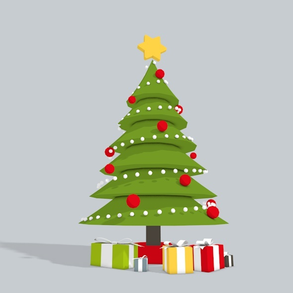 3DOcean 3D Christmas Tree Low Poly 9563920