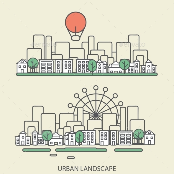GraphicRiver Urban Landscape 9564087