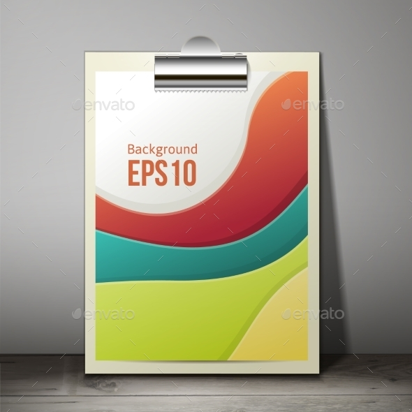 GraphicRiver Paper Sheet in a Clipboard of Standing 9564195