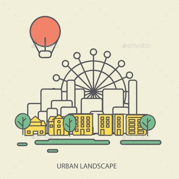 GraphicRiver Urban Landscape 9564208