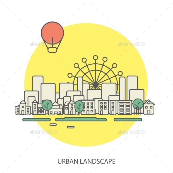 GraphicRiver Urban Landscape 9564210