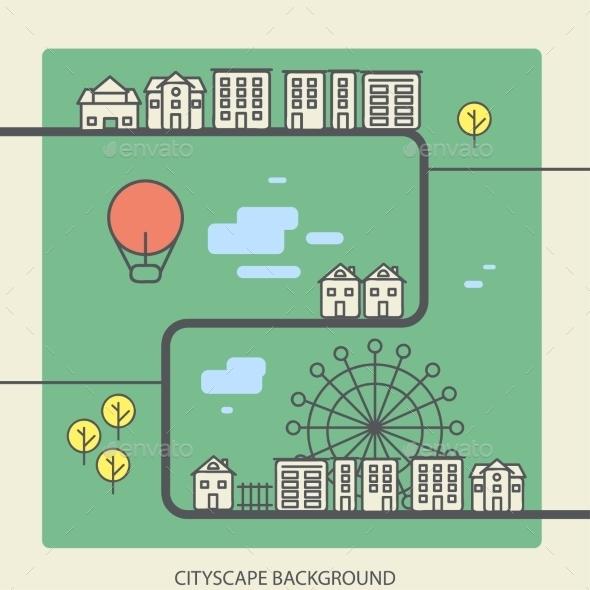 GraphicRiver Urban Landscape 9564211