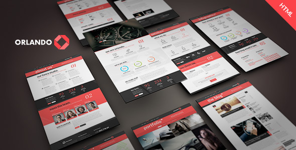 ThemeForest Orlando Creative Infographics HTML Template 9566814
