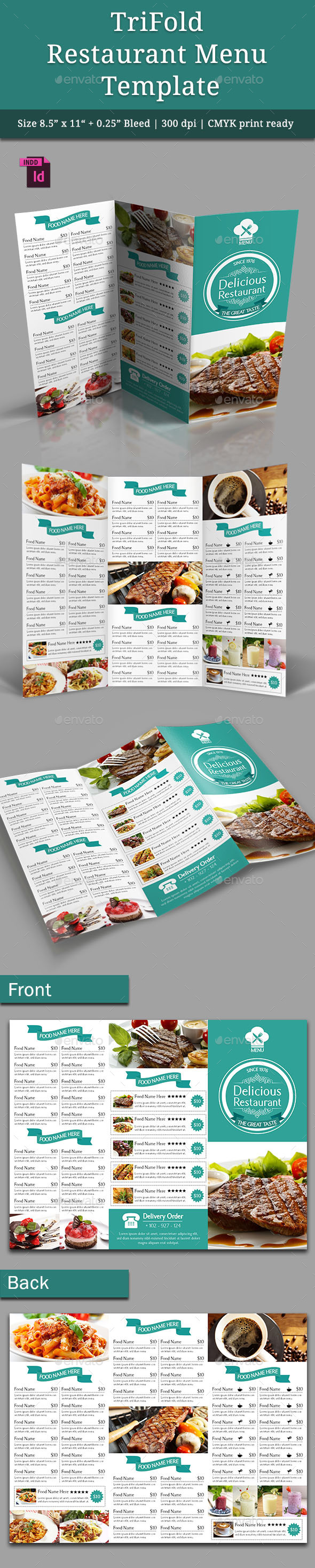 GraphicRiver TriFold Restaurant Menu Template Vol 4 9566842