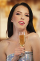 Woman with a glass of champagne - PhotoDune Item for Sale