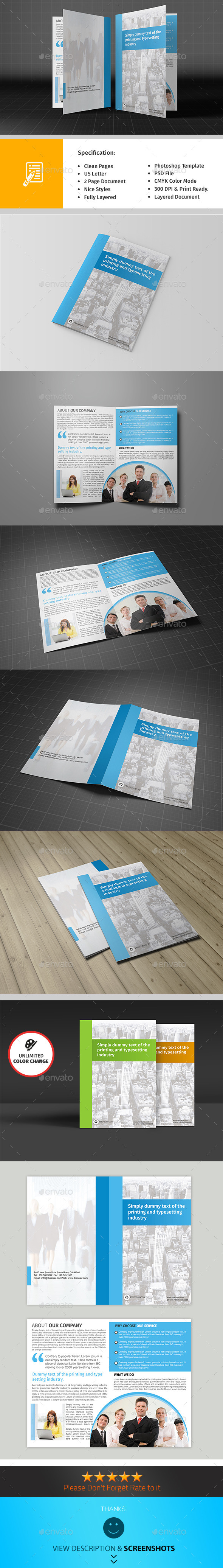 GraphicRiver Bifold Brochure Template 9571297