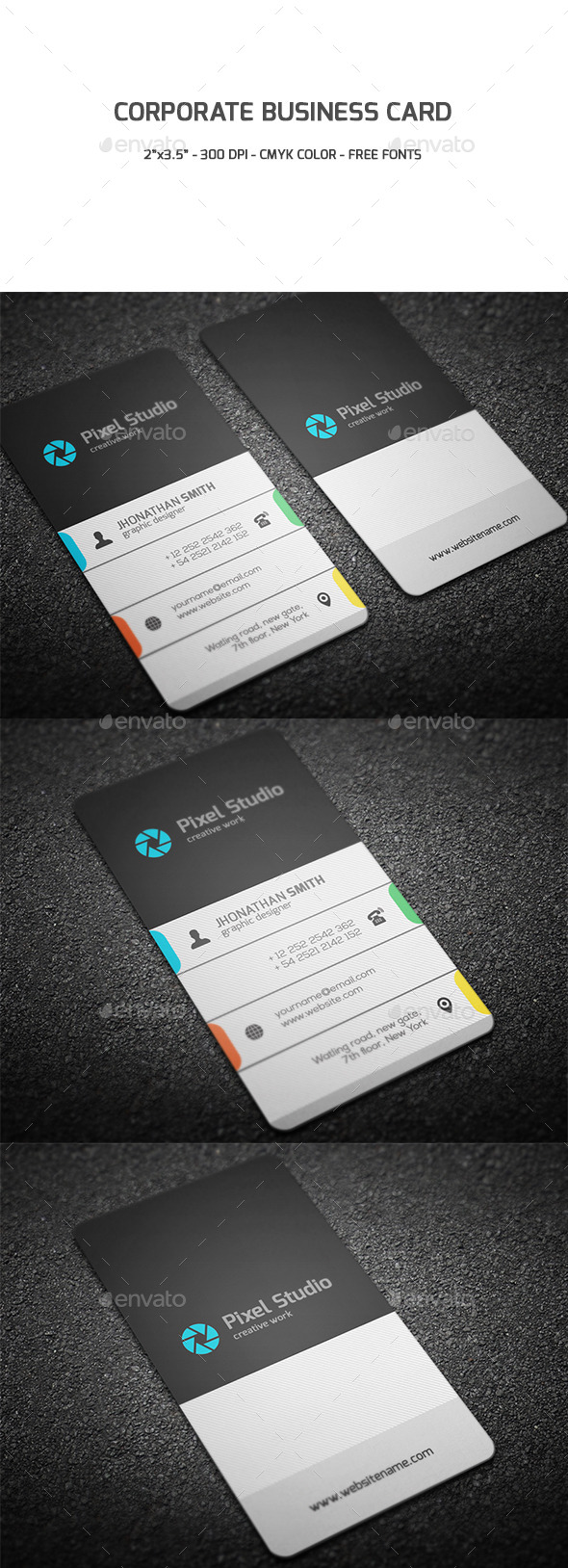 GraphicRiver Corporate Business Card 9571380