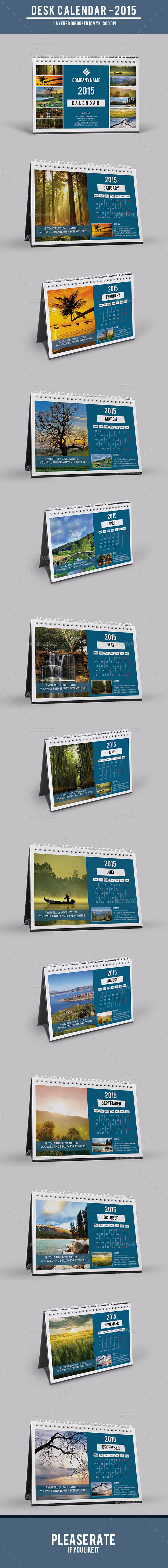 GraphicRiver Desk Calendar-V06 9571377