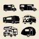 6 RV Camper Silhouettes - GraphicRiver Item for Sale