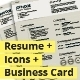 Sands: Resume + Icons + Business Card, 3-in-1 Deal - GraphicRiver Item for Sale