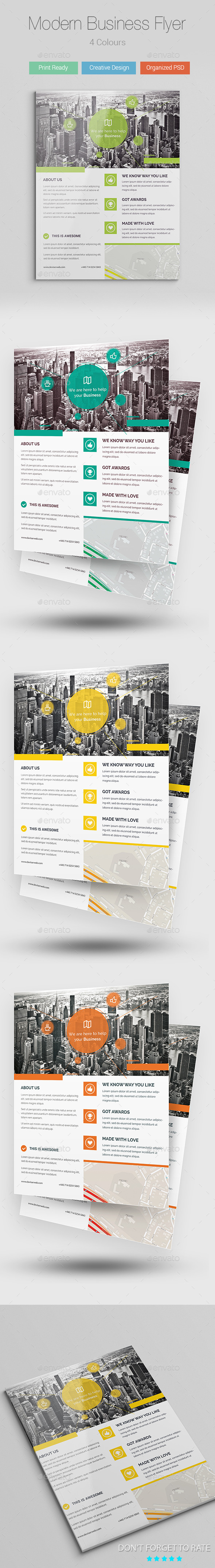 GraphicRiver Modern Business Flyer Poster Template 9571522