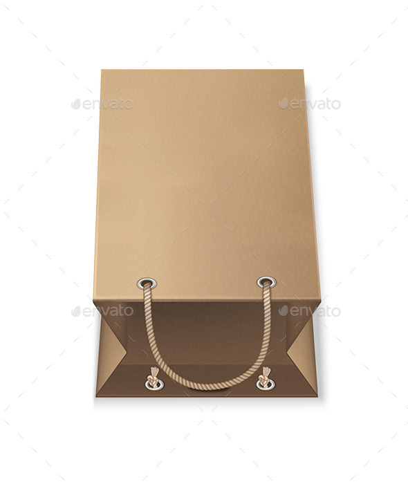 GraphicRiver Brown Paper Bags On White Background 9498801