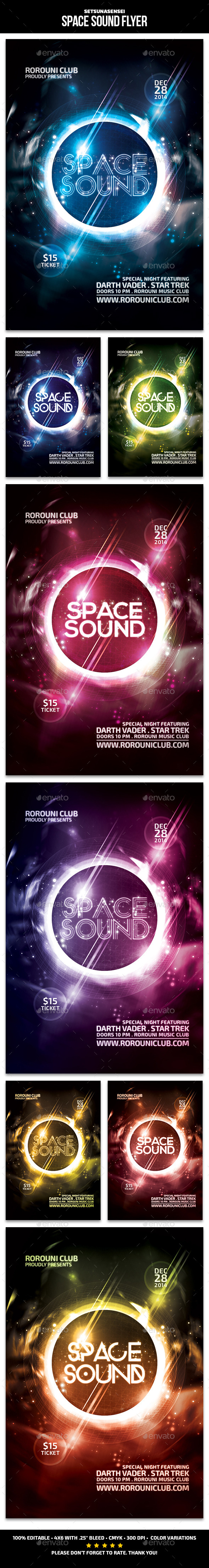GraphicRiver Space Sound Flyer 9571669