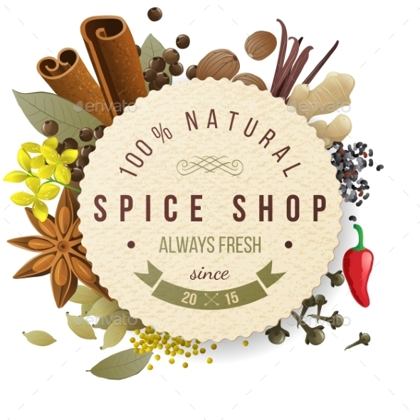 GraphicRiver Spice Shop Emblem 9571684
