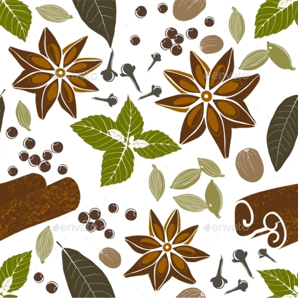 GraphicRiver Pattern with Spices 9571691