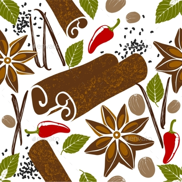 GraphicRiver Pattern with Spices 9571696