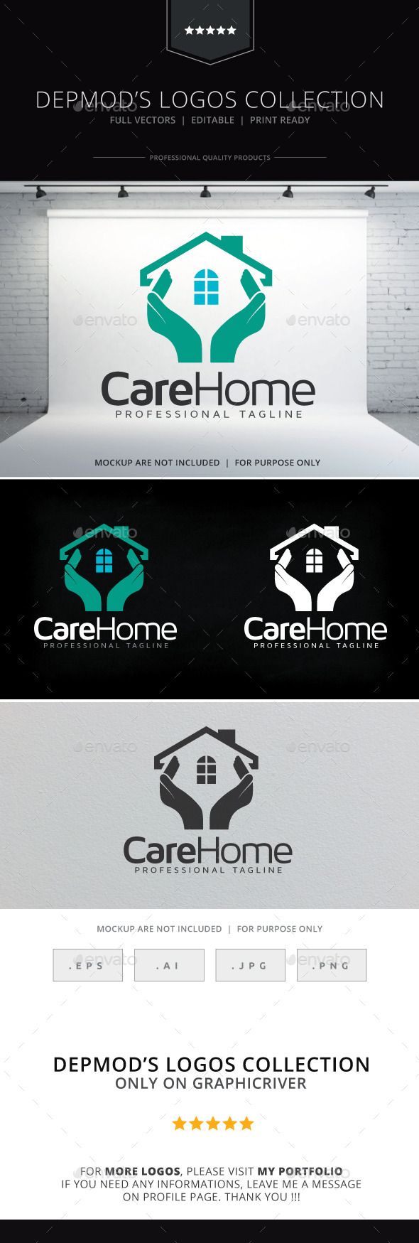 GraphicRiver Care Home Logo 9571766