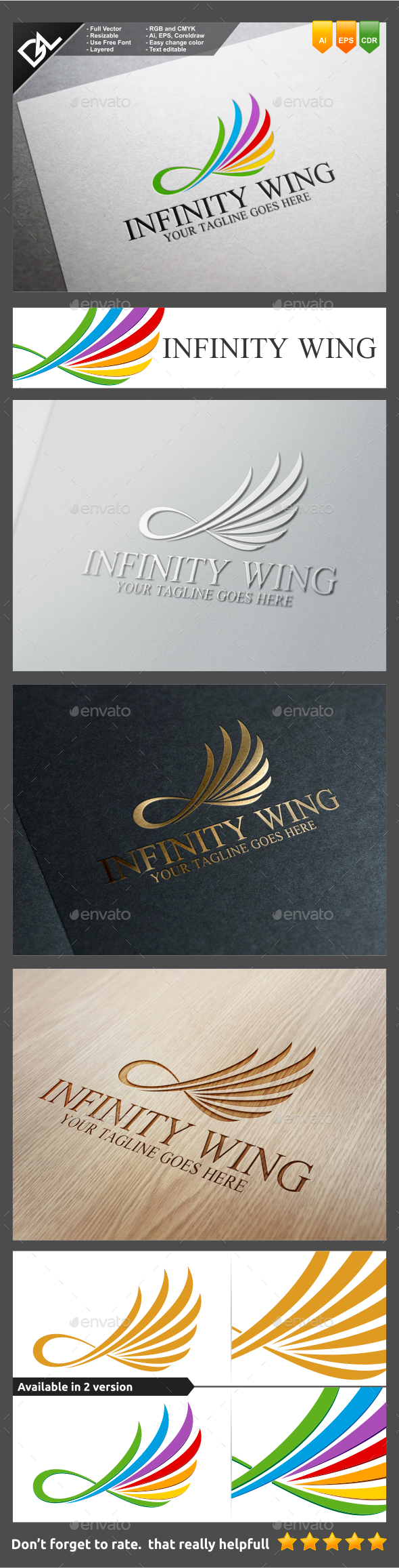 GraphicRiver Infinity Wing 9571805