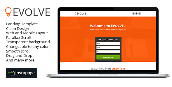 ThemeForest Evolve Instapage Landing Page 9454994