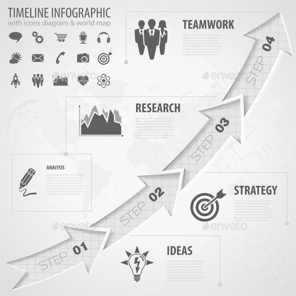 GraphicRiver Timeline Infographic 9571809