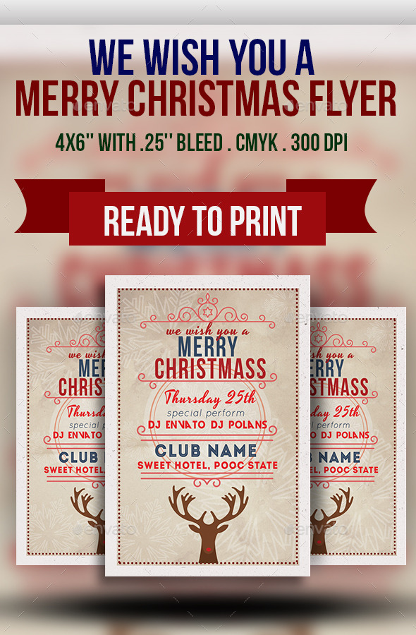 GraphicRiver We Wish You a Merry Christmas Flyer 9571835