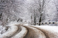 curve road through winter forest - PhotoDune Item for Sale