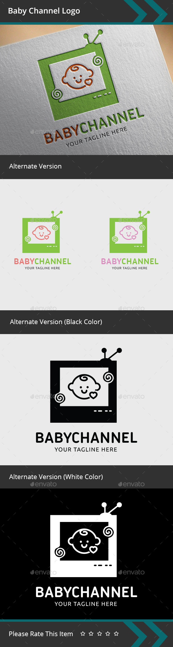 GraphicRiver Baby Channel Logo 9571952